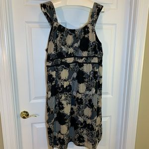 Mossimo Gray and Black Floral Dress Size 28W/30W